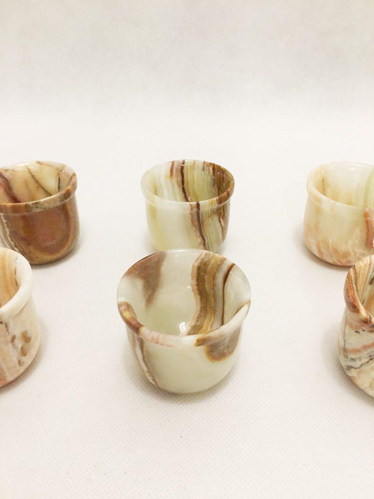 Onyx Marble Luxury Tea Set With 6 Cups