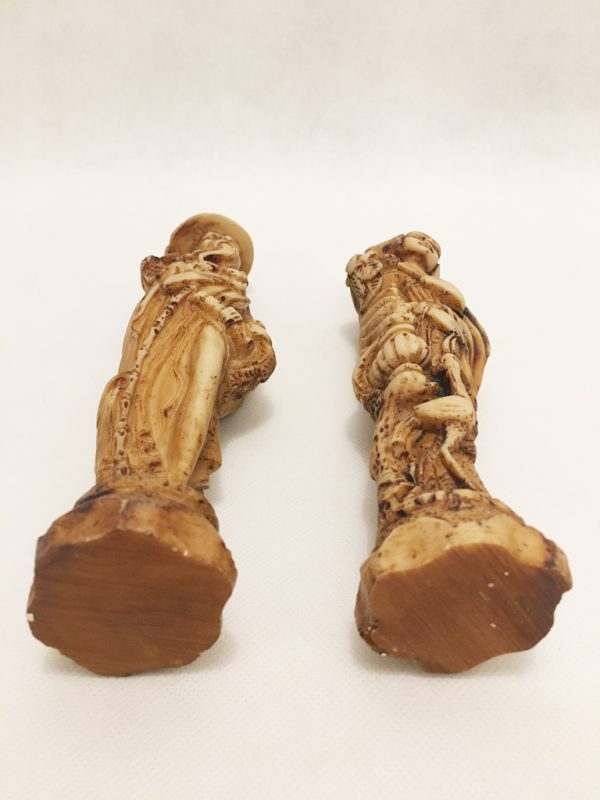 Oriental Carved Figurine Pair