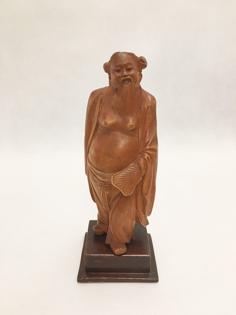 Oriental Wood Figurine Set of 8