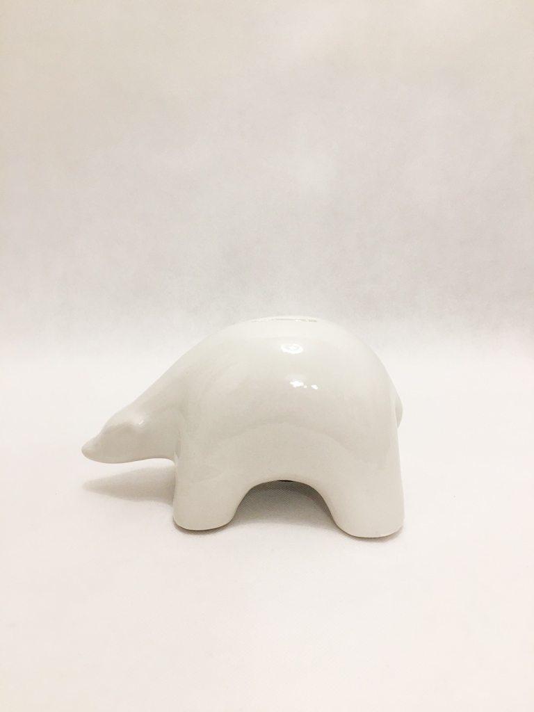 White Porcelain Polar Bear Piggy Bank
