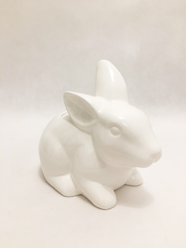 White Porcelain Rabbit Piggy Bank