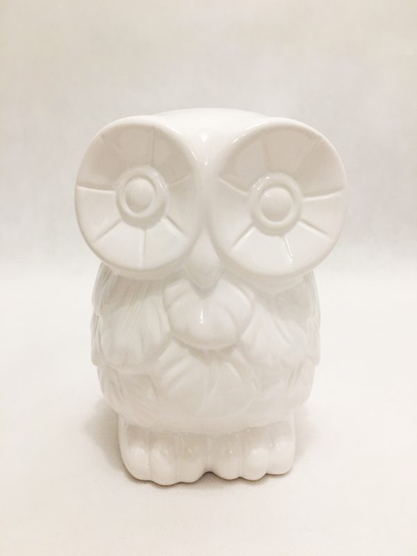 White Porcelain Owl Ornament 1