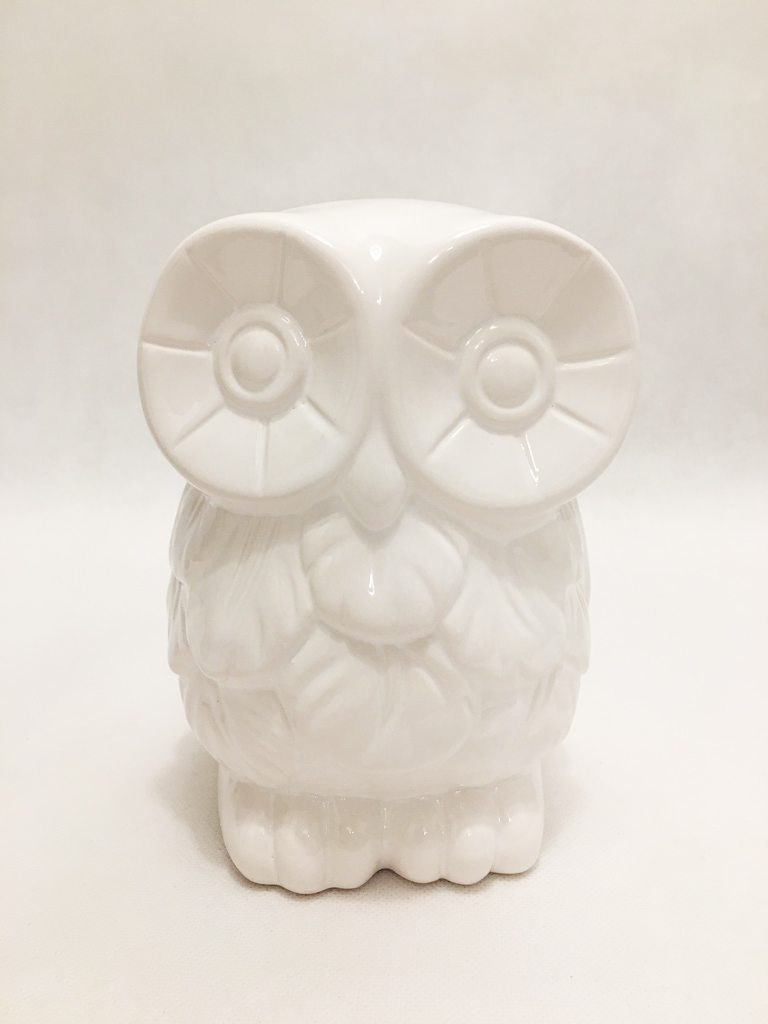 White Porcelain Owl Ornament 1