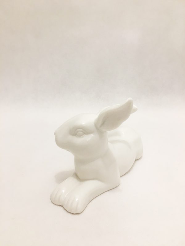 White Porcelain Hare Ornament