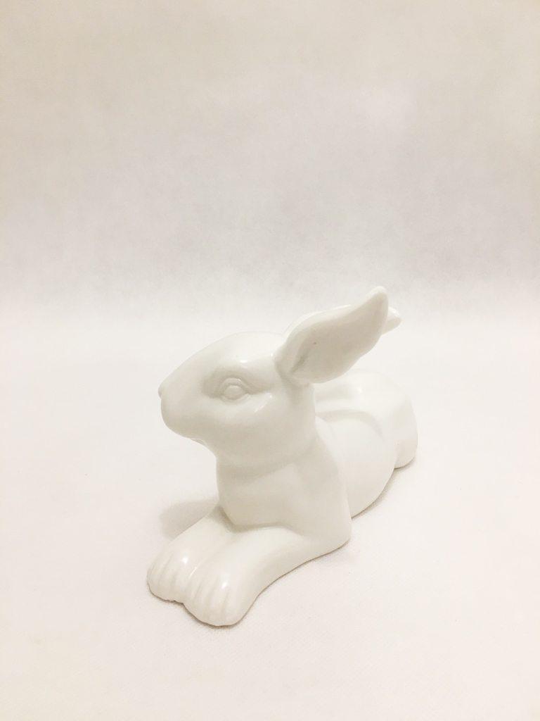 White Porcelain Hare Ornament