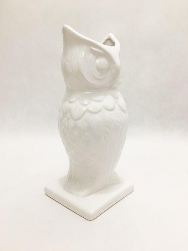 White Porcelain Owl Vase 1