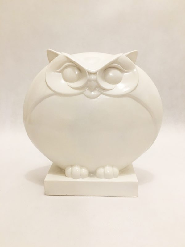White Porcelain Owl Ornament 2