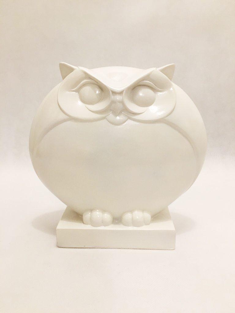 White Porcelain Owl Ornament 2