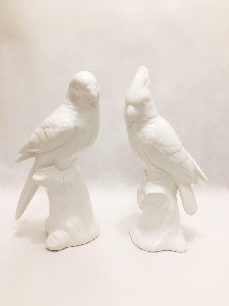 White Porcelain Birds Pair