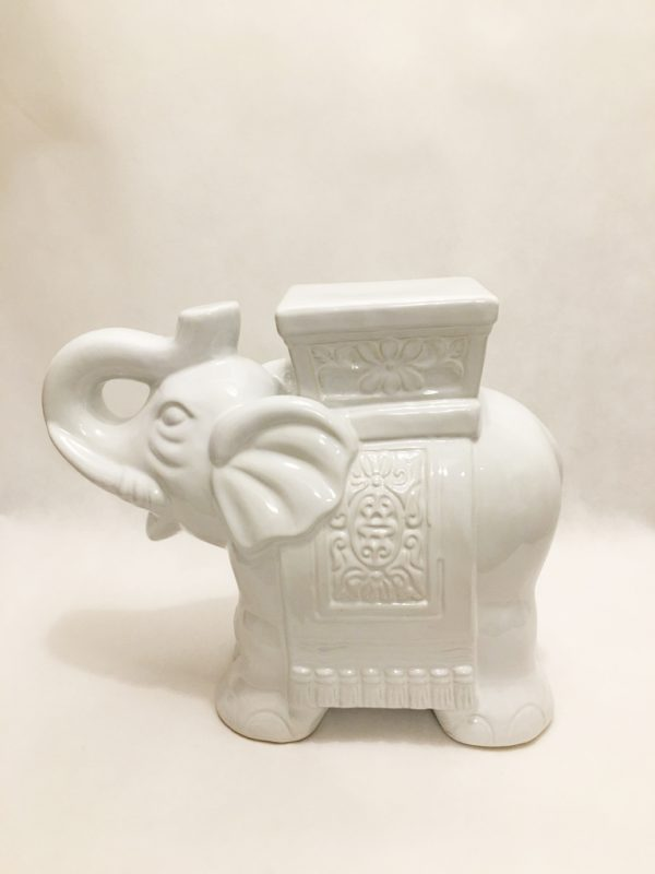 White Porcelain Large Elephant Ornament