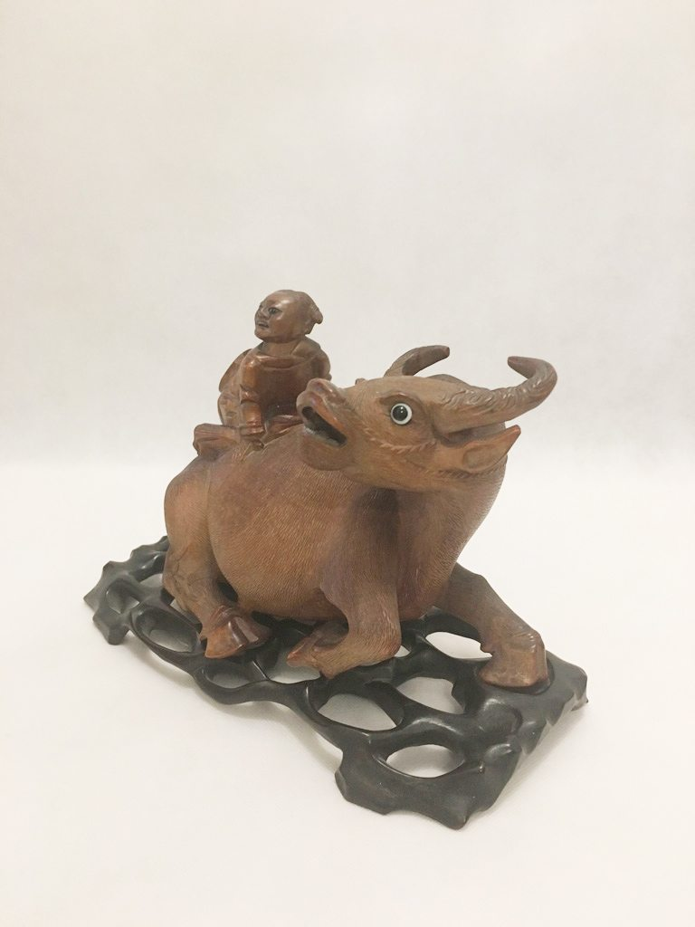 Wooden Water Buffalo Ornament 1