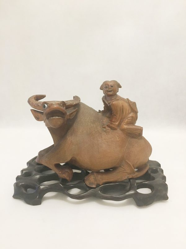 Wooden Water Buffalo Ornament 2