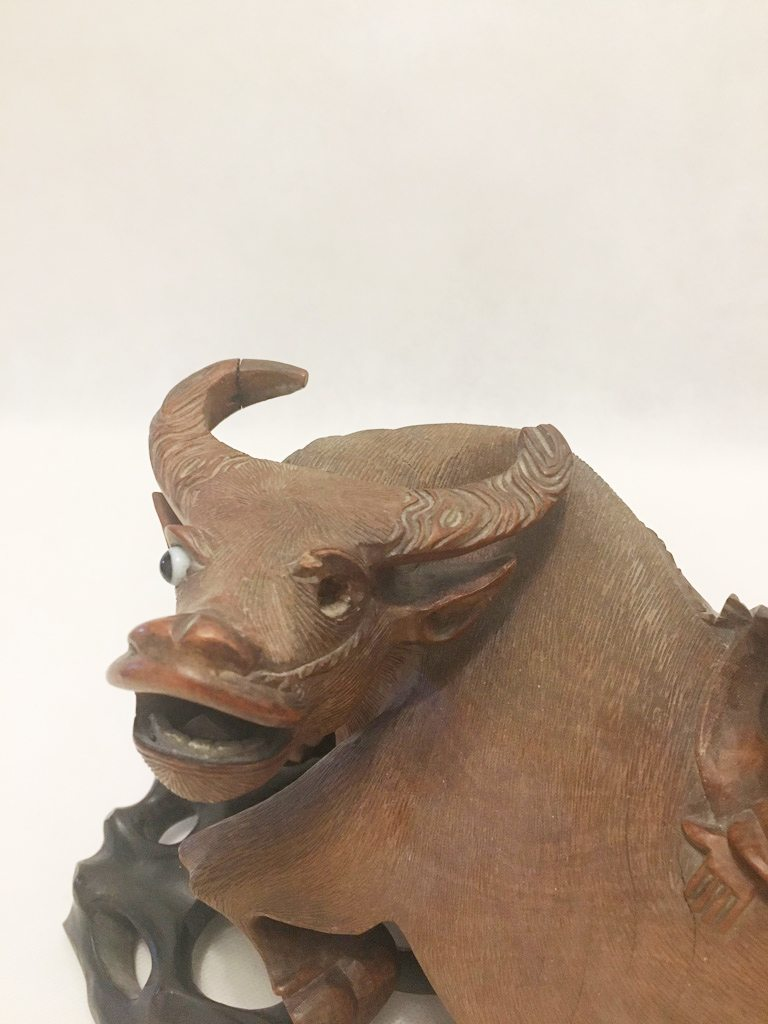 Wooden Water Buffalo Ornament 2