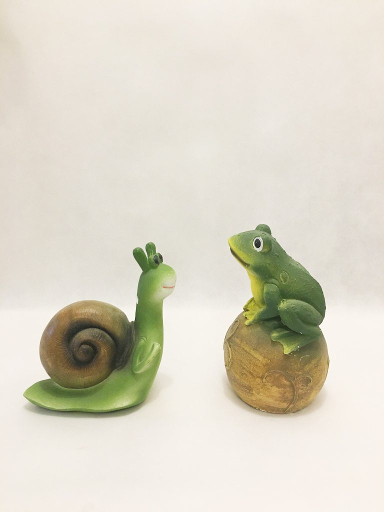 Snail and Frog Garden Ornaments