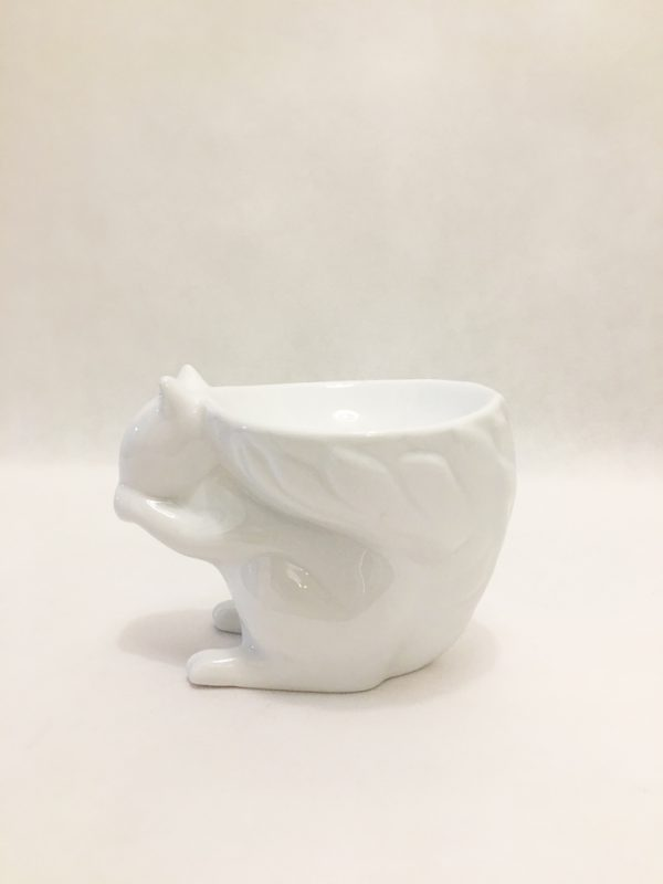 White Squirrel Bowl Ornament