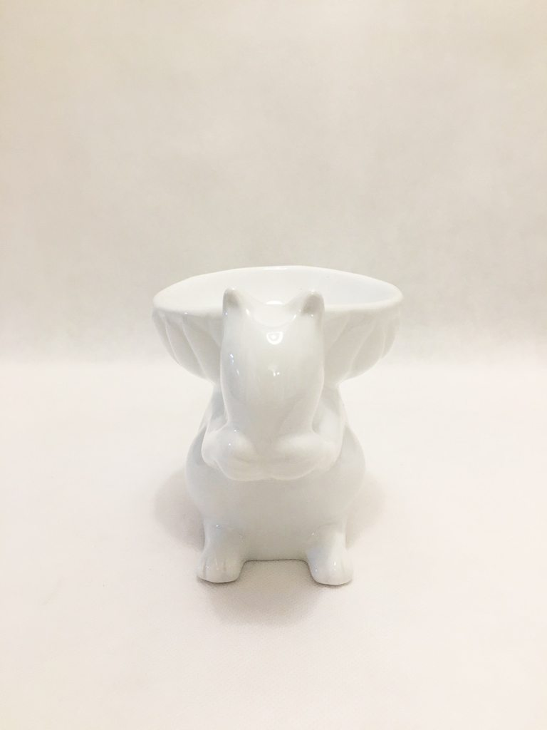 White Squirrel Bowl Ornament