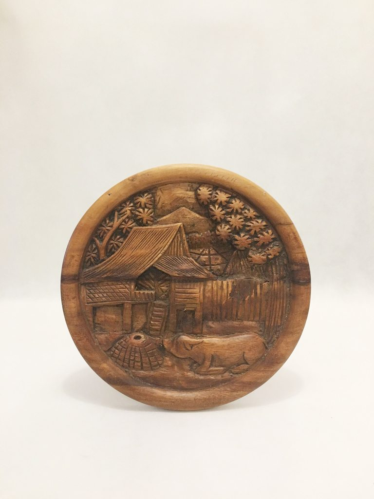Carved Wooden Wall Hanging